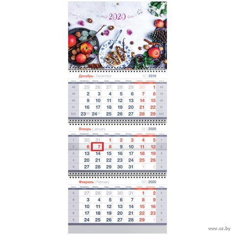 """Календарь настенный квартальный на 2020 год """"Breakfast"""" (29,5х70 см) — фото, картинка"""