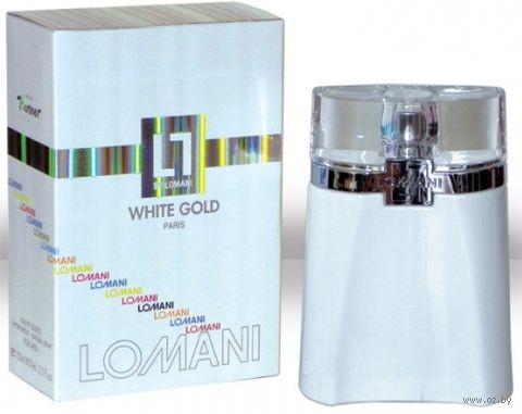 "Туалетная вода для мужчин ""Lomani White Gold"" (100 мл)"