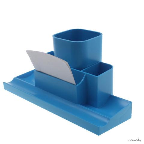 """Органайзер для рабочего стола """"Башня"""" (синий)"""