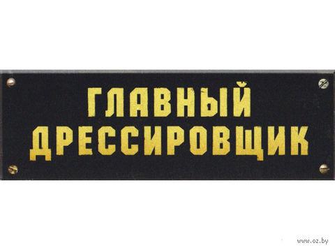 """Табличка на дверь """"Главный дрессировщик"""" — фото, картинка"""