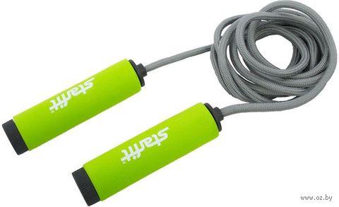 Скакалка со вспененной ручкой RP-105 (зелёная/чёрная) — фото, картинка