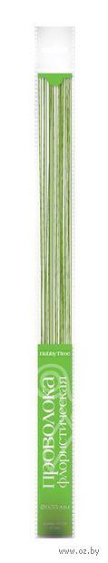 Проволока для флористики (400 мм; 30 шт.; зеленая) — фото, картинка