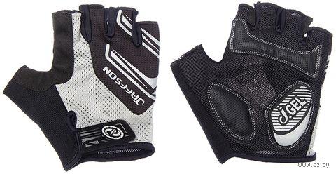 """Перчатки велосипедные """"SCG 46-0331"""" (XL; чёрно-серые) — фото, картинка"""