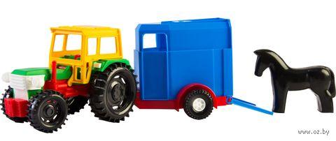 Трактор с прицепом (арт. 39215) — фото, картинка