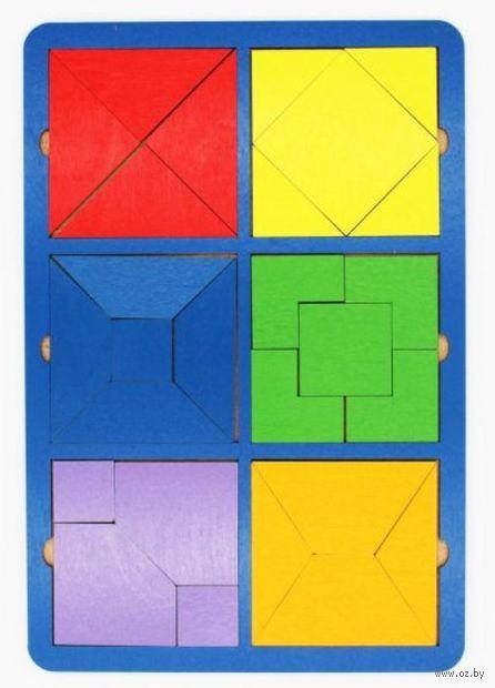 "Рамка-вкладыш ""Собери квадрат"" (6 фигур; уровень 2) — фото, картинка"