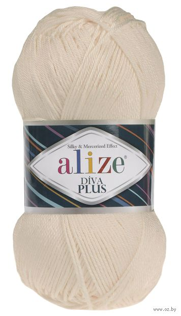 """Пряжа """"ALIZE. Diva Plus №160"""" (100 г; 220 м; медовый) — фото, картинка"""