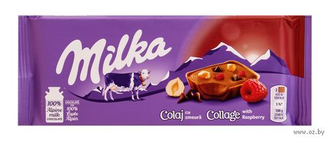 "Шоколад молочный ""Milka. Collage. Fruit"" (93 г) — фото, картинка"