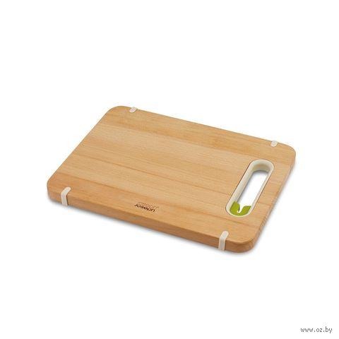 """Доска разделочная с ножеточкой """"Slice&Sharpen"""" (37х28х1 см; деревянная)"""