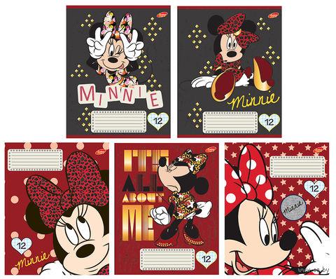 """Тетрадь в клетку """"Minnie Mouse"""" (12 листов)"""