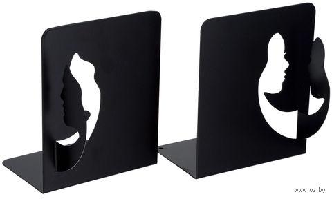 """Декоративная подставка-ограничитель для книг """"Лица"""" — фото, картинка"""