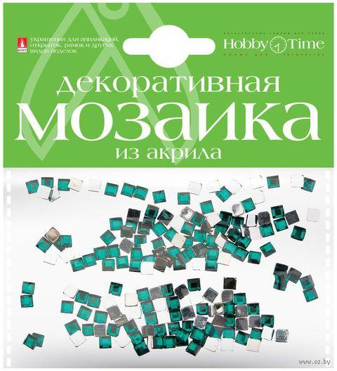 Мозаика декоративная из акрила №2 (4х4 мм; 200 шт.; бирюзовый) — фото, картинка