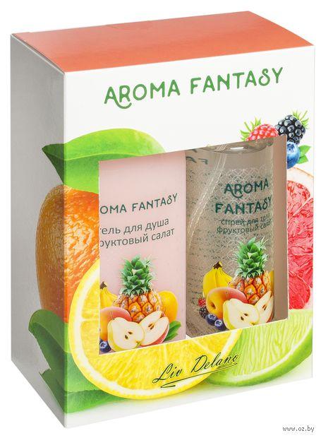 """Подарочный набор """"Aroma Fantasy. Фруктовый салат"""" (спрей, гель для душа) — фото, картинка"""