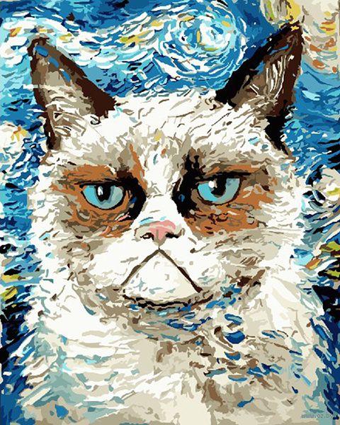 """Картина по номерам """"Кот Ван Гога"""" (400х500 мм) — фото, картинка"""