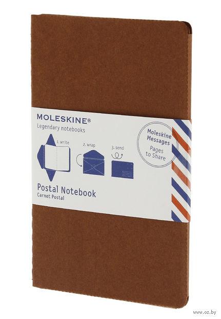 """Почтовый набор Молескин """"Postal Notebook"""" (большой; мягкая обложка, цвет: терракотовый)"""