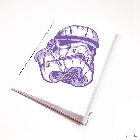"""Блокнот белый """"Звездные войны. Штурмовик"""" А5 (арт. 106)"""