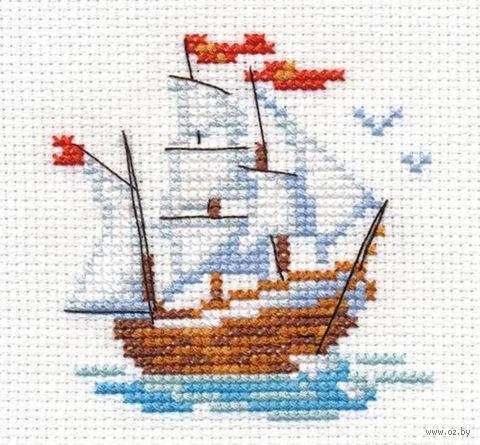 """Вышивка крестом """"Кораблик"""" — фото, картинка"""