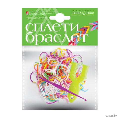"""Набор для плетения из резиночек """"Яркие. Двухцветные"""" (1000 шт.) — фото, картинка"""