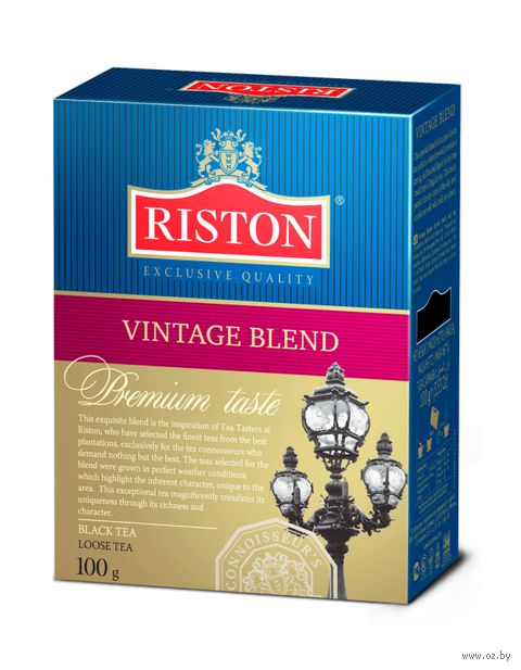 """Чай черный листовой """"Riston. Vintage Blend"""" (100 г) — фото, картинка"""