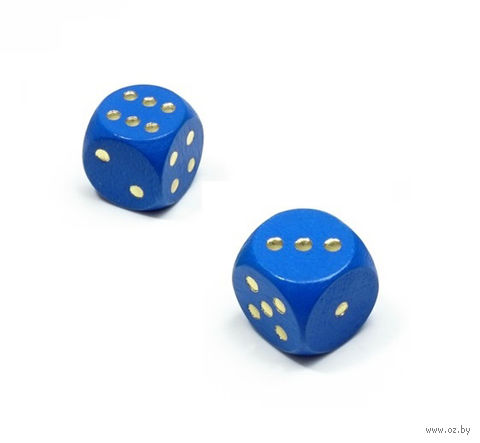 "Кубик D6 ""Эко-стиль"" (синий) — фото, картинка"
