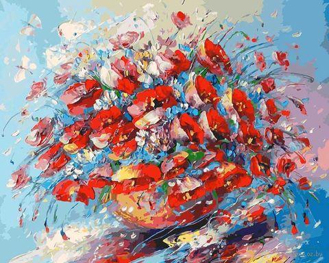 """Картина по номерам """"Цветочная палитра лета"""" (400х500 мм) — фото, картинка"""