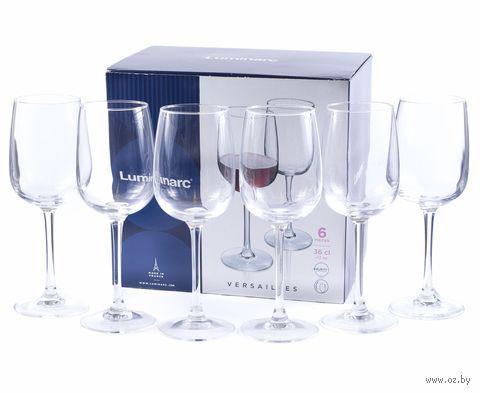 """Бокал для вина стеклянный """"Versailles"""" (6 шт.; 360 мл) — фото, картинка"""