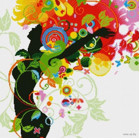 "Алмазная вышивка-мозаика ""Танец лета"" (600х600 мм) — фото, картинка"