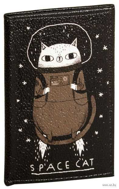 """Обложка на паспорт """"Космо-кот"""" — фото, картинка"""