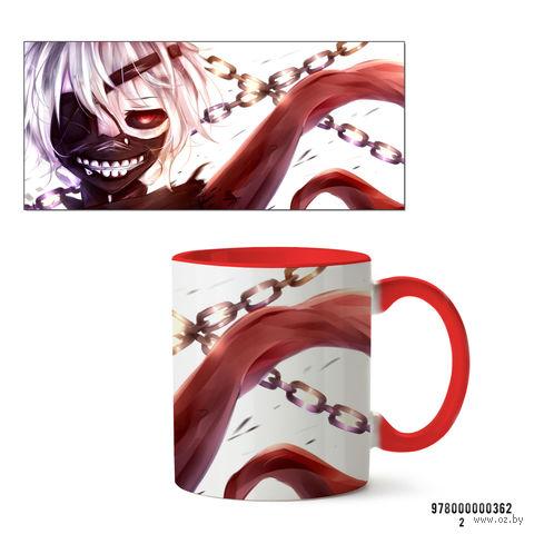"""Кружка """"Аниме. Токийский гуль"""" (красная) — фото, картинка"""