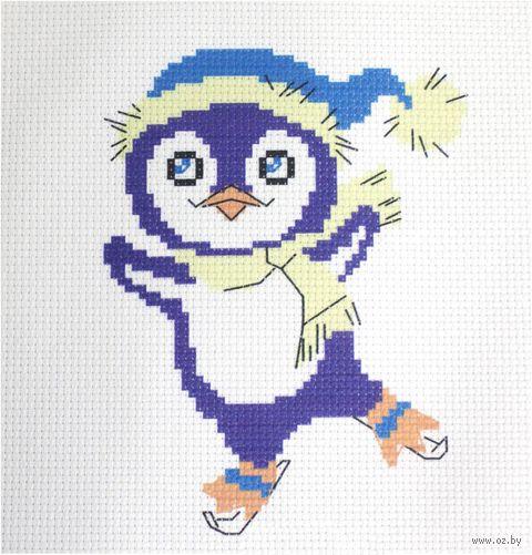 "Вышивка крестом ""Пингвинчик"" (190х190 мм) — фото, картинка"