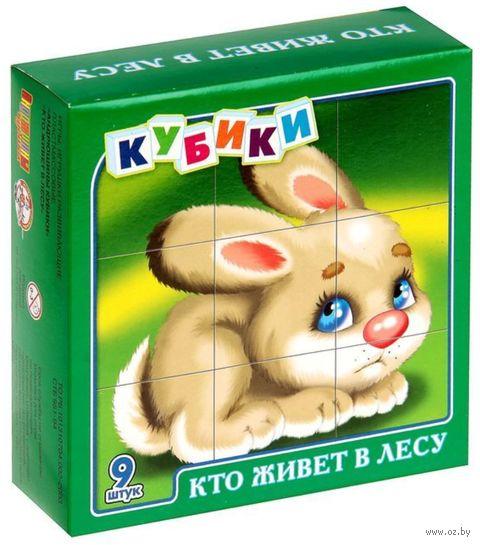 "Кубики ""Кто живет в лесу"" (9 шт.) — фото, картинка"