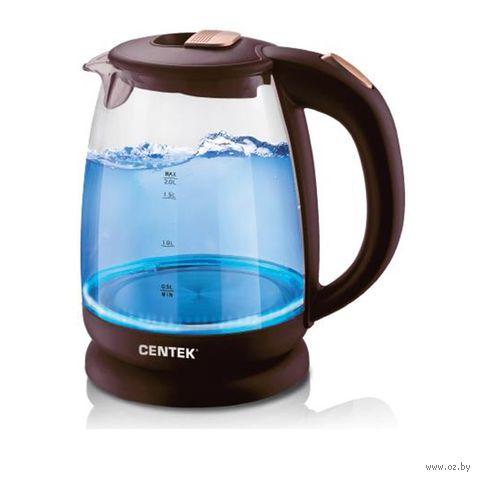 Электрочайник CENTEK CT-1069 (Шоколад/бронза) — фото, картинка