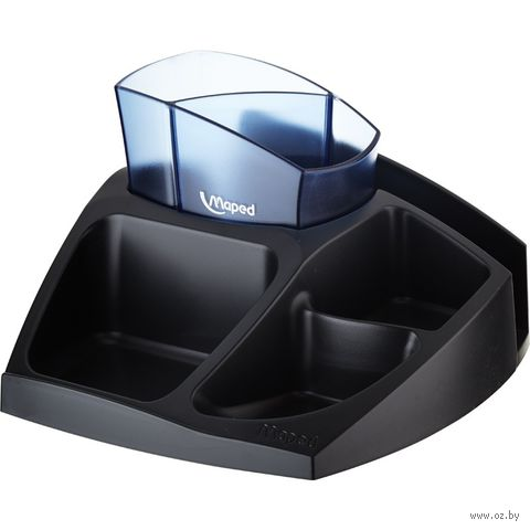 """Подставка для канцелярских мелочей """"Mini"""" (цвет подставки: черный; цвет стакана: ассорти)"""