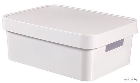 Ящик для хранения с крышкой (11 л; белый)