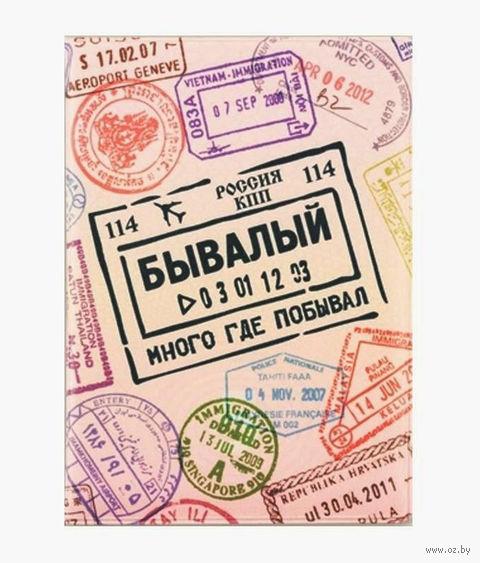 """Обложка для загранпаспорта """"Бывалый"""" — фото, картинка"""