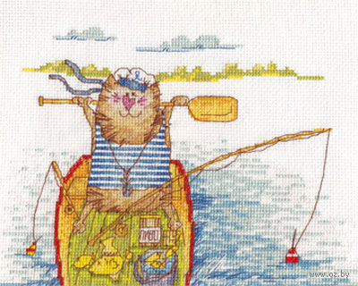 "Вышивка крестом ""Удачная рыбалка"""