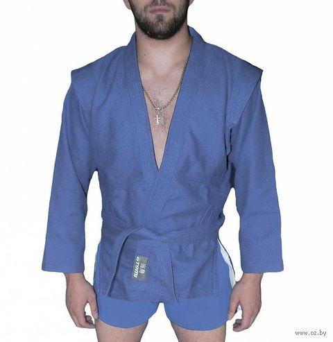 Куртка для самбо AX5 (р. 32; синяя; без подкладки) — фото, картинка