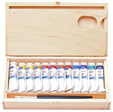 "Краска масляная ""Мастер-класс"" (12 цветов; деревянная коробка) — фото, картинка"