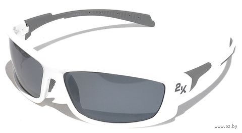 """Очки солнцезащитные """"IB-12062"""" (белые/дымчатые зеркальные revo) — фото, картинка"""