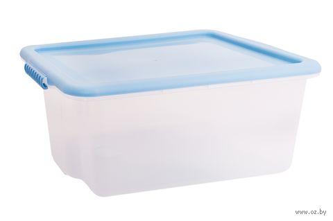 """Ящик для хранения с крышкой """"Porter"""" (14 л; васильковая) — фото, картинка"""