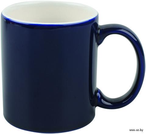 Кружка керамическая (320 мл; синий/белый)
