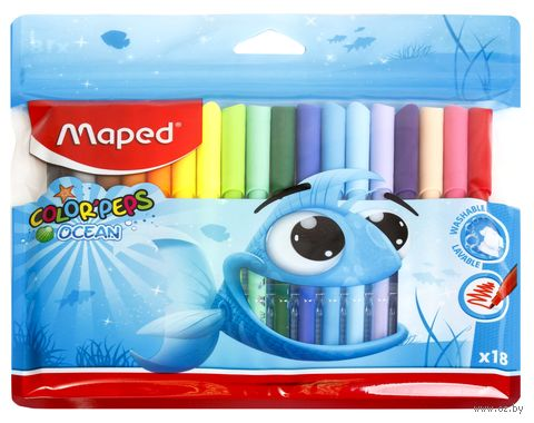 """Фломастеры """"Color Peps Ocean"""" (18 цветов) — фото, картинка"""