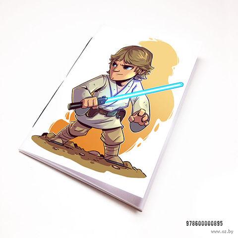 "Блокнот белый ""Звездные войны"" А7 (арт. 895)"