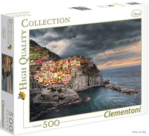 """Пазл """"Манарола, Италия. Красочный город на скале"""" (500 элементов)"""