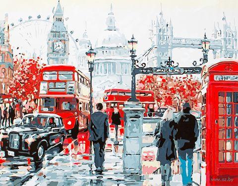 """Картина по номерам """"На улицах Лондона"""" (400х500 мм; арт. PC4050111) — фото, картинка"""