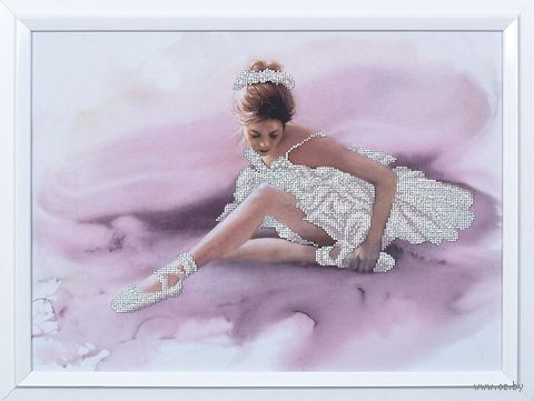 "Вышивка бисером ""Белый лебедь"" (410х300 мм) — фото, картинка"