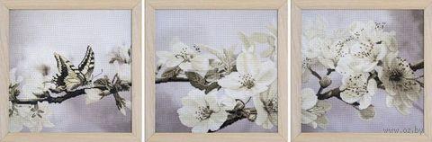 "Вышивка крестом ""Цветущий сад"" (300х300 мм; 3 шт.) — фото, картинка"