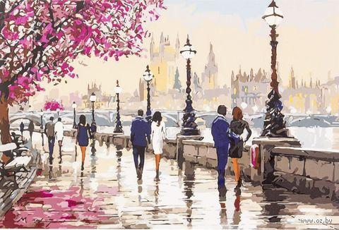 "Картина по номерам ""Набережная в Лондоне"" (400х500 мм) — фото, картинка"