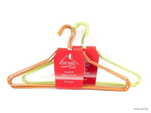 Набор вешалок для одежды металлических (10 шт, 40 см)
