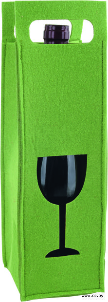 Декоративный чехол для бутылки вина (зеленый)