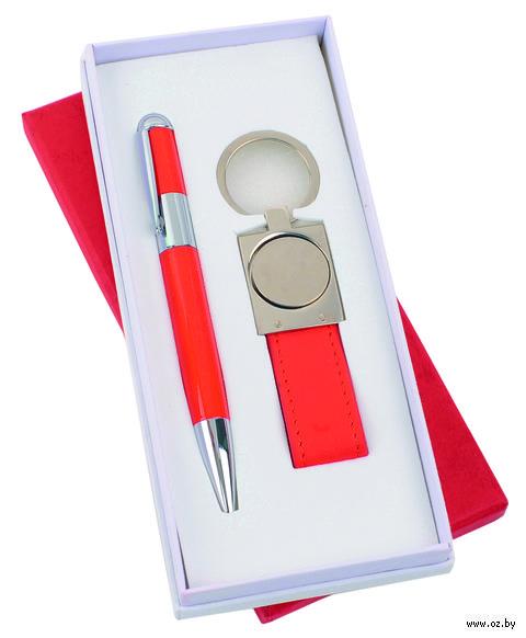 Набор. Шариковая ручка, брелок (красный)